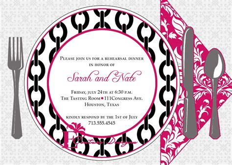 8 Best Images of Dinner Invitation Templates Printable