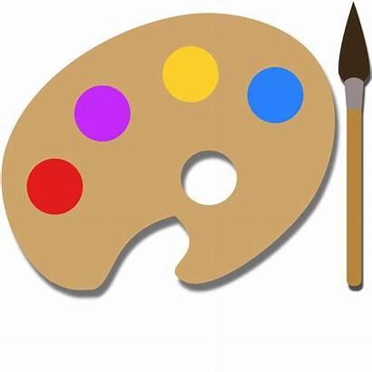 Palette Paint Clipart Pallet Clip Painting Pallete