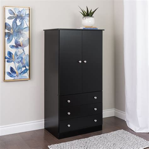 Black Wardrobe Dresser by Prepac Manufacturing Ltd Black Edenvale 3 Drawer Wardrobe