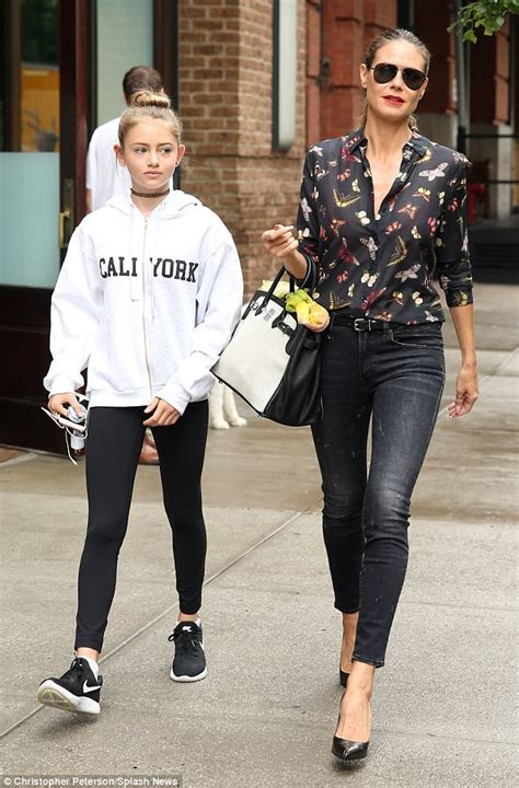 Heidi Klum Out With Leni Day After Jimmy Fallon Show