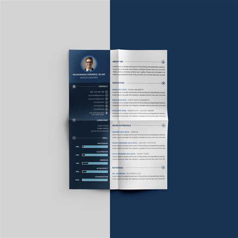 beautiful resume cv design template psd file good