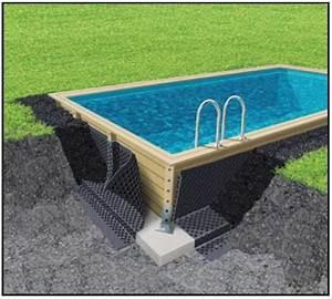 Piscine Enterrée Rectangulaire : piscine en bois kit piscine bois prix discount ~ Farleysfitness.com Idées de Décoration
