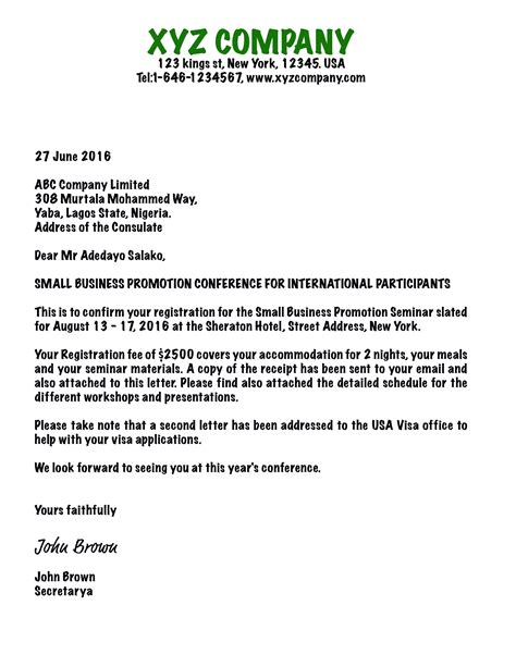 sample invitation letter  canadian visit visa