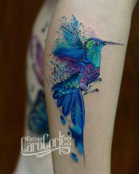 caro cortes watercolor bird tattoo south america