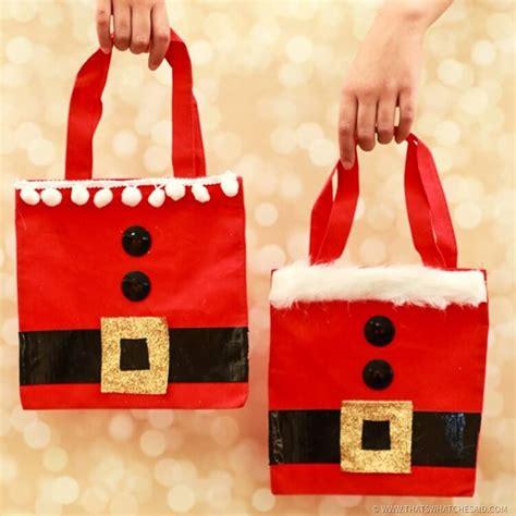 santa gift bags christmas gift wrap idea