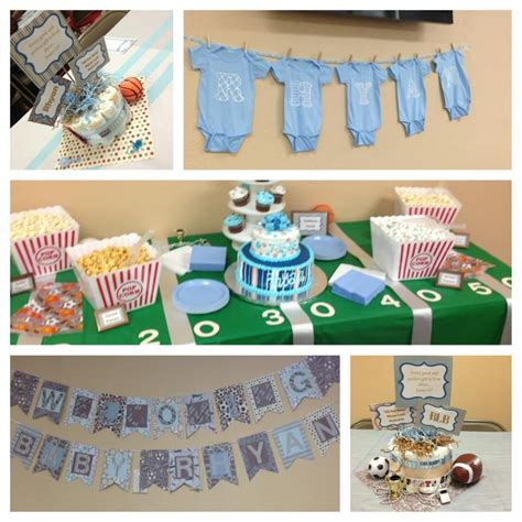 baby boy sports themed baby shower baby shower