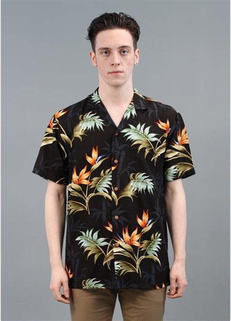 Paradise Found Star Orchid Hawaiian Shirt Black   Triads
