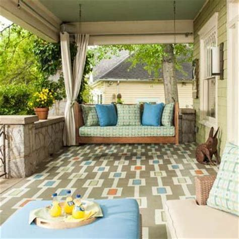 how to paint a colorful carpet on your porch floor