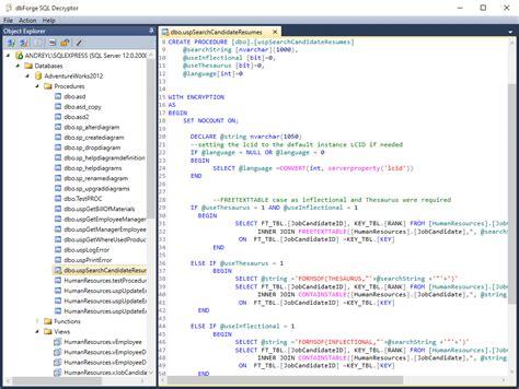 Decrypt Sql Server Database Objects