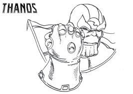marvel thanos coloring page  printable coloring