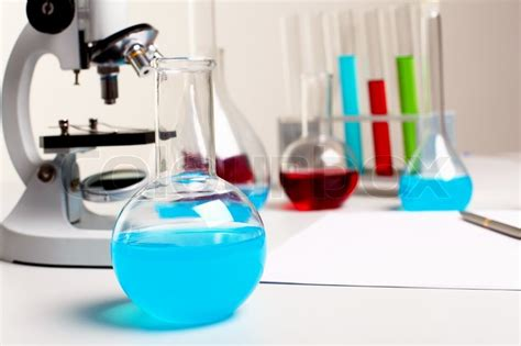 image  chemistry  biology laborotary equipment stock