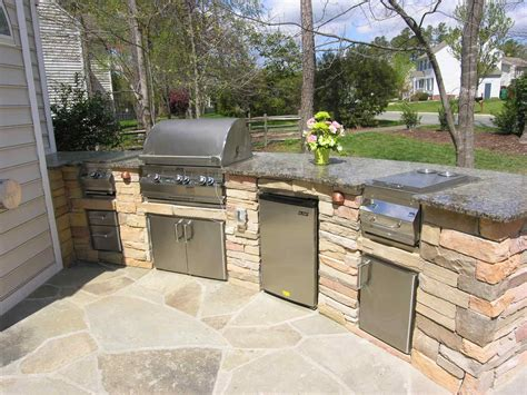 outdoor kitchens ideas pictures backyard patio with kitchen ideas this custom outdoor