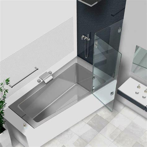 badewanne aus glas duschwand badewanne badewannenaufs 228 tze aus glas glasduschen