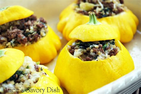 patty pan squash stuffed patty pan squash with quinoa beef and spinach