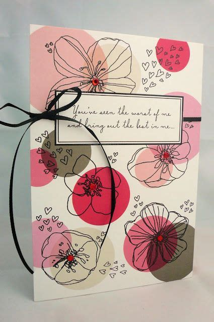 creative endeavors  circles cute card