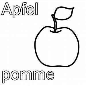 Ich Weiß Französisch : kostenlose malvorlage franz sisch lernen apfel pomme zum ausmalen ~ Watch28wear.com Haus und Dekorationen