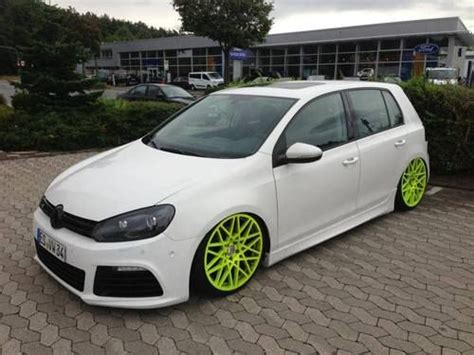 slammed volkswagen golf slammed volkswagen golf with lime green wheels vw gti
