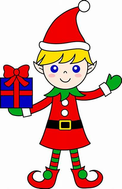 Elf Drawing Santa Christmas Getdrawings Line
