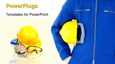 powerpoint template engineer  safety helmet