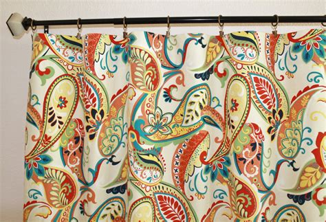 Pair Of 50 Wide Covington Whimsy Paisley Curtains In Beach Curtain Tie Backs Extended Length Shower Curtains Ideas For In Living Room Red Artist Contemporary Blackout Canopy Window Japanese Noren Door