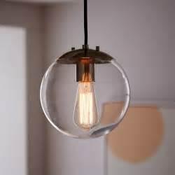 Pendant lighting bulbs : Globe pendant clear west elm