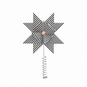 Christbaumspitze Stern Beleuchtet : ferm living christbaumspitze stern paper top star black stripe online kaufen emil paula ~ Whattoseeinmadrid.com Haus und Dekorationen