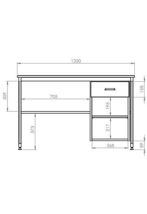 bureau dimension bureau yun tiroir niche hebergement collectif rodet