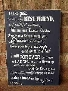 I Take You To Be My Best Friend Custom Wood Sign ~ Wedding ...