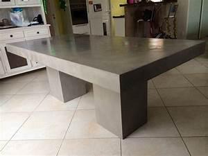 Table En Béton Ciré : table beton par stuc co tables a diner b ton cire ~ Premium-room.com Idées de Décoration