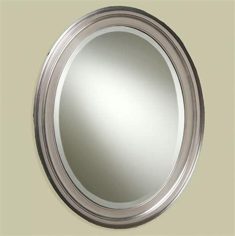 Brushed Nickel Bathroom Mirror by Oval Bathroom Mirrors Brushed Nickel Home Design Ideas