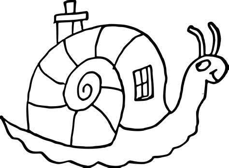 coloriage escargot maison 224 imprimer