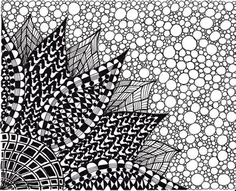 Abstract Easy Black And White by Abstract Ink Drawing Zentangle Inspired Flower Black And