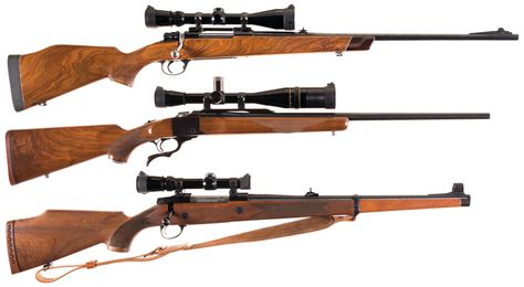 Three Scoped Sporting Rifles -A) Husqvarna Imperial Bolt ...
