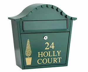 personalised letter box green review compare prices With personalized letter box