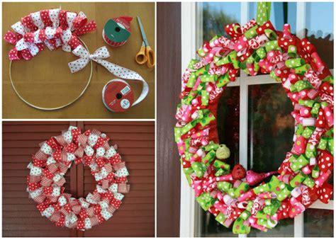 ribbon christmas wreath usefuldiycom