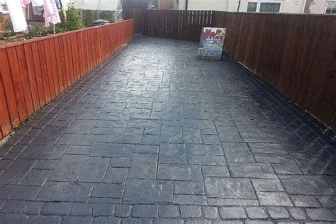 paving patterns for driveways patterned concrete driveway newcastle project block paving newcastle