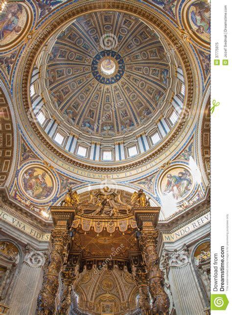 cupola bernini rome baldachin by bernini and cupola in basilica di san