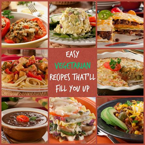 and easy vegetarian recipes 10 easy vegetarian recipes that ll fill you up mrfood com