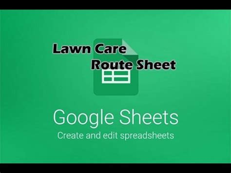 lawn care clean up route sheet implementing google