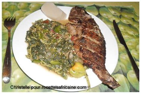 poisson frit aux l 233 gumes verts recettes africaines