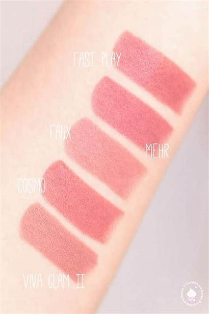 Mac Lipstick Satin Swatches Play Down Pinotom