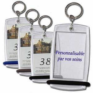 Boite De 20 Creoglass Porte Cles Hotel Personnalisable