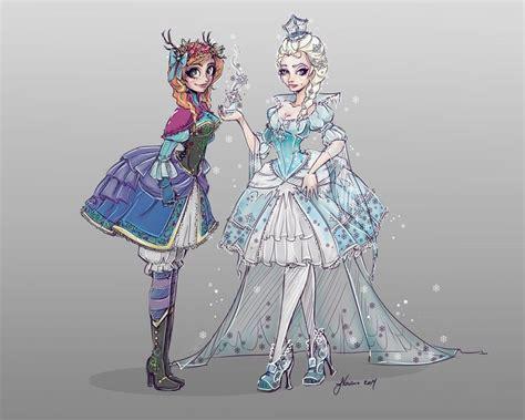 Frozen Characters Lolita Style By Noflutter.deviantart.com