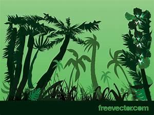 Jungle Plants Cartoon