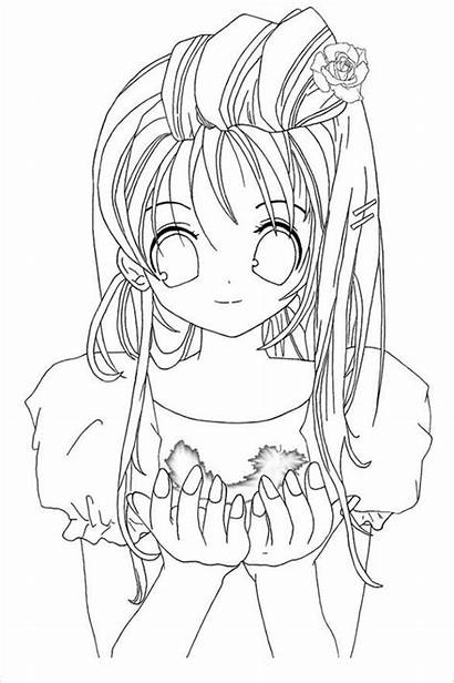 Coloring Pages Teenager Anime Colouring Teen Template