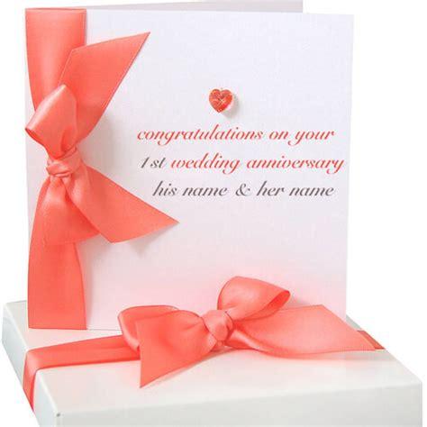 write   st wedding anniversary greeting cards