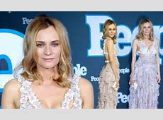 Diane Kruger risks a wardrobe malfunction as she flashes