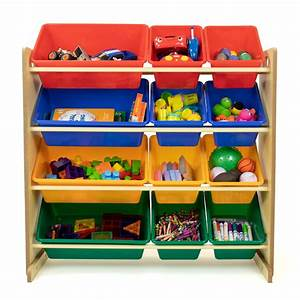 Kids, Toy, Storage, Organizer, With, 12, Plastic, Removable, Bins, Multiple, Colors