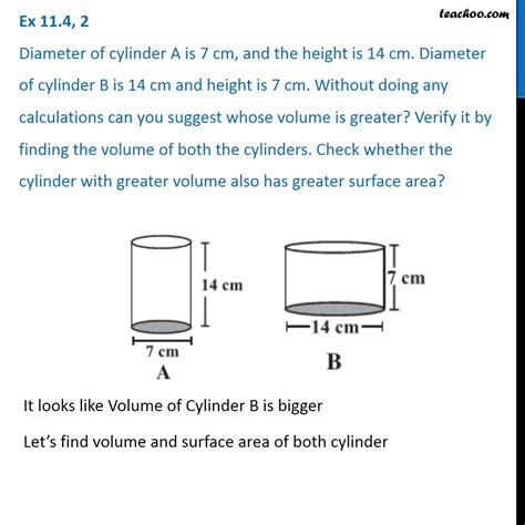 diameter  cylinder    cm