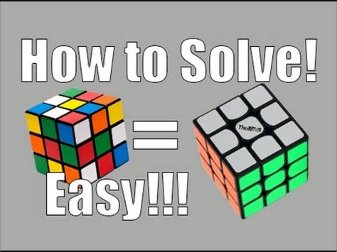 How To Solve A 3x3x3 Rubik's Cube Easiest Tutorial (the White Cross) Youtube